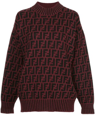 Fendi Pre-Owned Zucca pattern knit top