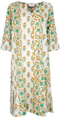 Nologo Chic Zen Midi Dress Cotton - Sweet Green