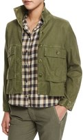 The Great The Swingy Army Jacket, Hunter Green
