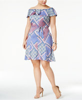 Love Squared Trendy Plus Size Off-The-Shoulder Fit & Flare Dress