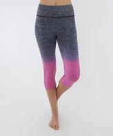 Electric Yoga Purple Faded Capri Leggings