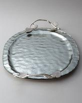 Michael Aram Large Botanical Leaf Glass Platter