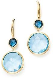 Marco Bicego 18K Yellow Gold Jaipur Mixed Blue Topaz Drop Earrings