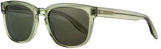 Barton Perreira Men's Coltrane Square Acetate Polarized Sunglasses, Green