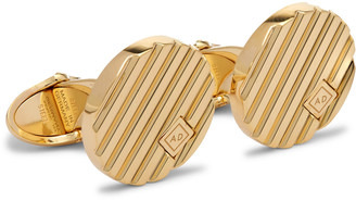 Dunhill Logo-Engraved Gold-Plated Cufflinks