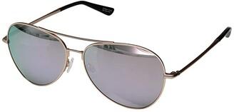 Spy Optic Blackburn (Matte Rose Gold/HD Plus Gray Green w/ Rose Quartz Spectra Mirror) Fashion Sunglasses