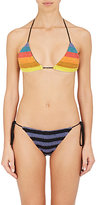 Mara Hoffman Women's Rainbow Stripe Triangle Bikini Top