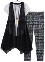 Knitworks Girls 7-16 Handkerchief Hem Vest