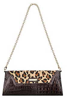 AK Anne Klein Brown Just Spotted Medium Clutch