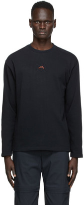 A-Cold-Wall* Black Stencil Graphic Long Sleeve T-Shirt