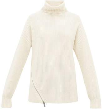 Tibi Side-zip Cashmere Sweater - Womens - Ivory