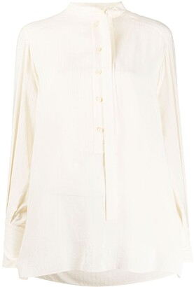 Chloé Striped Pussy-Bow Blouse