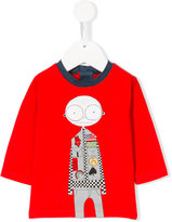 Little Marc Jacobs bald boy print T-shirt