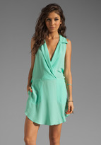 Tracy Reese RUNWAY Soft Solids Surplice Shirtdress