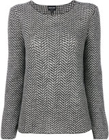 Giorgio Armani herringbone-effect printed sweater
