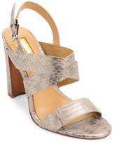 Lauren Ralph Lauren Kaila Snake Leather Slingback Sandals