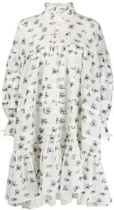 Cecilie Bahnsen Macy floral mini dress