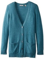 Cashmere Addiction Women's Button Down Boyfriend Cardigan Sweater