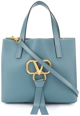 Valentino VRING leather tote bag