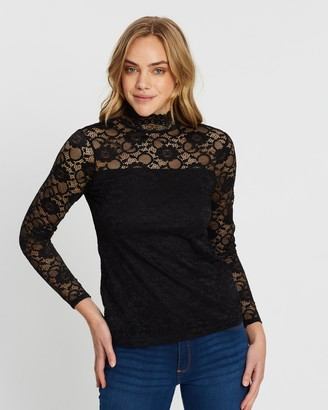 Dorothy Perkins Lace High Neck Top