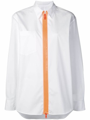 Maison Margiela contrast zip shirt