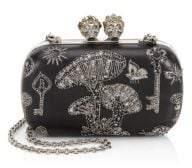 Alexander McQueen Queen and King Leather Mini Clutch