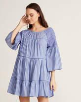 Free People Lola Embroidered Stripe Peasant Dress