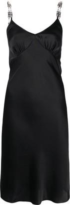 Paco Rabanne Metal Disc Shoulder Strap Slip Dress