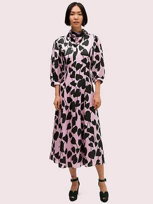 Kate Spade Heart Strings Silk Midi Dress