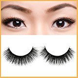 MyM 3D Mink False Eyelashes 100% Siberian Mink Fur Handmade Fake Lashes Thick Cross Style Reusable (009)