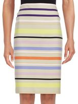 Lord & Taylor Sunset Striped Pencil Skirt
