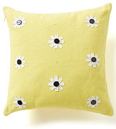 Kate Spade Flower-Appliqued Square Pillow