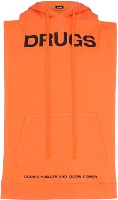 Raf Simons Drugs sleeveless hoodie