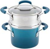Rachael Ray Nonstick Sauce Pot and Steamer Insert Set - Marine Blue Gradient - 3 QT