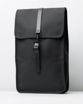 Rains Black Backpacks - Backpack - Size One Size at The Iconic