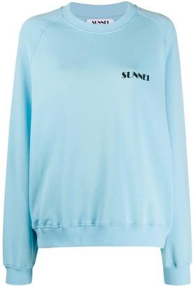 Sunnei Logo Embroidered Sweatshirt