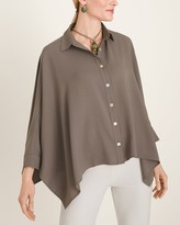 Chico's Chicos Marla Wynne for Crepe Dolman-Sleeve Shirt
