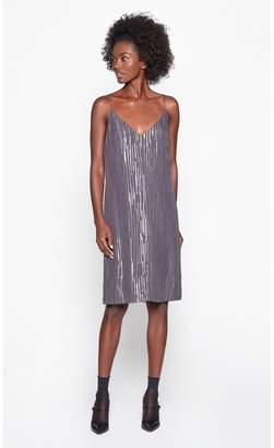Equipment Tansie Silk Metallic Dress