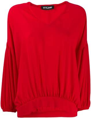 Styland ruched hem blouse