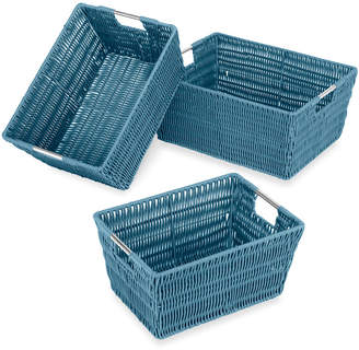 Whitmor 3Pc Rattique Storage Basket Set