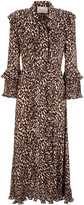 La DoubleJ Ruffled Printed Chiffon Maxi Dress