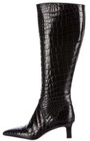 Manolo Blahnik Alligator Knee-High Boots