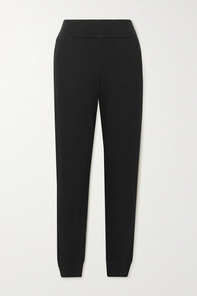 Commando Luxury Ribbed Stretch Modal And Pima Cotton-blend Track Pants - Black