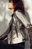 Blank NYC BLANKNYC Metallic Faux Leather Moto Jacket