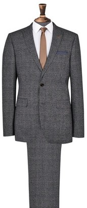 Dorothy Perkins Womens **Burton Grey And Camel Highlight Slim Fit Check Suit Jacket, Grey