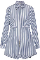 ADAM by Adam Lippes Striped Cotton-poplin Shirt - Navy