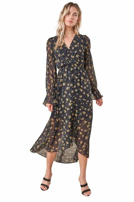 Sugar Lips Sugarlips Women's Loving You Floral High Low Maxi Dress