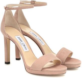 Jimmy Choo Misty 100 suede platform sandals