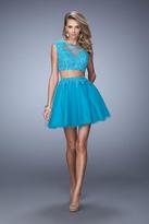 La Femme 21878 Two Piece Bedazzled A-line Dress