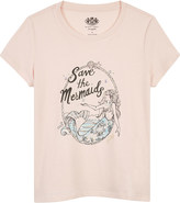 Juicy Couture Save the Mermaids print cotton-blend T-shirt 4-14 years